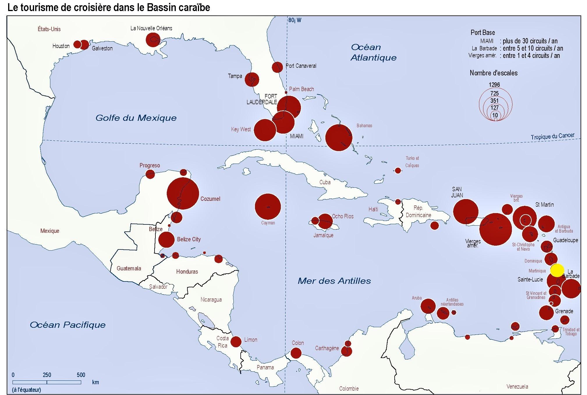 Martinique carte monde
