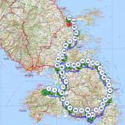 Martinique carte touristique cycliste martinique etape 3