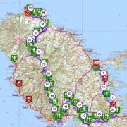 Martinique carte touristique cycliste martinique etape 4
