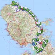 Martinique carte touristique cycliste martinique etape 5