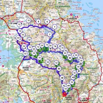 Martinique carte touristique cycliste martinique etape 8 partie 1
