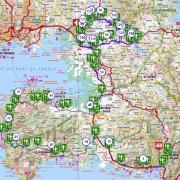 Martinique carte touristique cycliste martinique etape 9