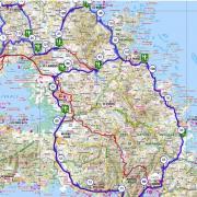 Martinique carte touristique cycliste martinique etape 1